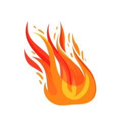 Flat icon of blazing fire bright red vector