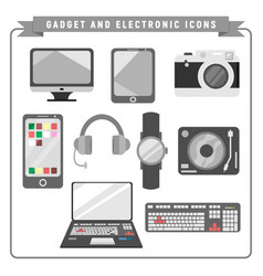 gadget and electronic collection vector image