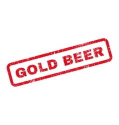 Gold Beer Text Rubber Stamp vector