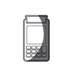 Grayscale silhouette of payment terminal vector