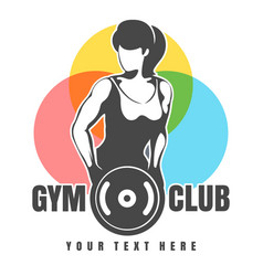 Gym or fitness club emblem vector