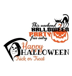 Halloween scary banners vector