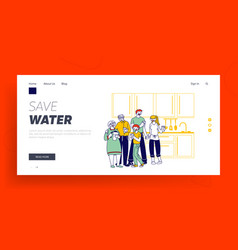 Healthy lifestyle people thirsty website landing vector