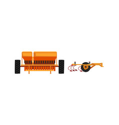 Heavy agricultural machinery for growing and vector