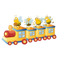 honey bess on train vector image