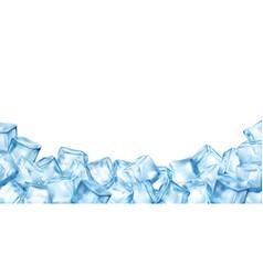 Ice cubes blocks frame vector