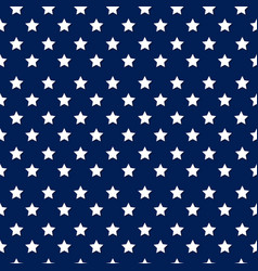 Independence day seamless pattern with stars - whi vector