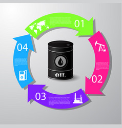 Industrial concept info graphic designclean vector