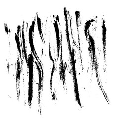 Ink abstract texture print dry brush stroke vector