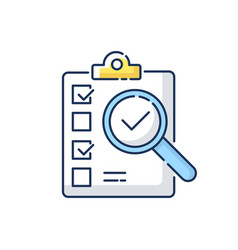 Inspection rgb color icon vector