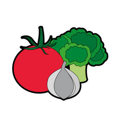 Isolated vegetables design vector