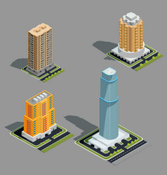 isometric 3d modern urban vector image