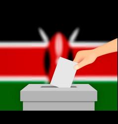 Kenya election banner background vector