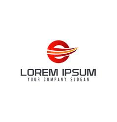 letter e logo design concept template vector image