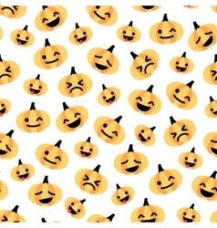 Light flat halloween pumpkin seamless pattern vector