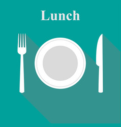 lunch in a flat vector image