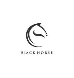 Minimalist horse logo designs vector