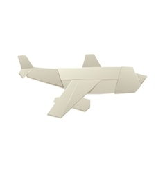 Paper toy plane isolated on white background vector