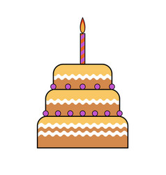 picture of a cake on a white background flat vector image