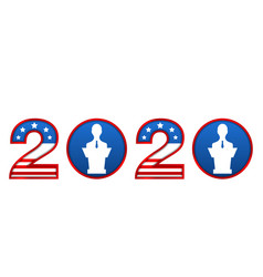 presidential election 0f usa 2020 register vector image