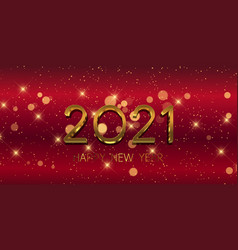Red and gold happy new year banner 0312 vector