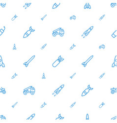 Rocket icons pattern seamless white background vector