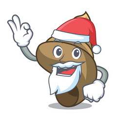 Santa spiral shell mascot cartoon vector