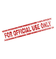 Scratched textured for official use only stamp vector