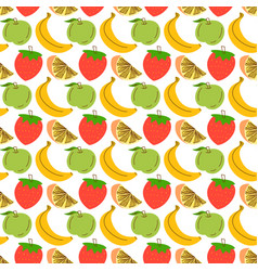 seamless pattern with fruit background seamless vector image