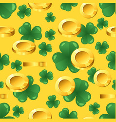 seamless pattern with golden coins vector image