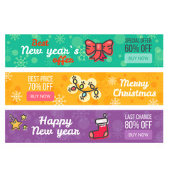 set of sale cards buy now special offer best price vector image