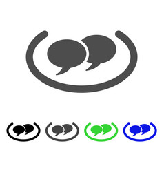 Social networks flat icon vector