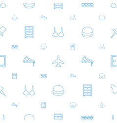 solid icons pattern seamless white background vector image