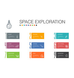 space exploration infographic 10 option line vector image