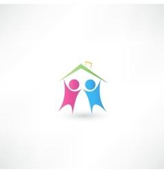 Success people icon vector