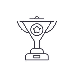 successful achievement line icon concept vector image