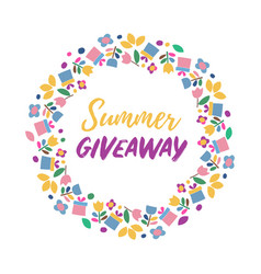 Summer give away banner vector
