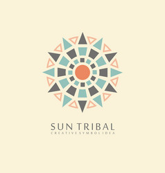 sun tribal symbol vector image