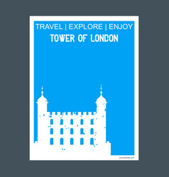 Tower of london uk monument landmark brochure vector