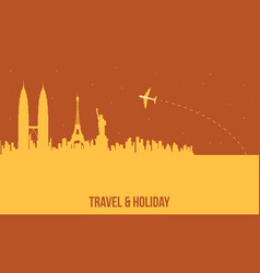 Travel and holiday to the world vector