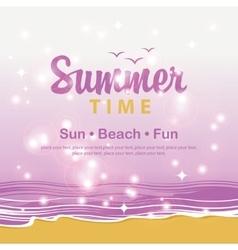 Travel banner summer time vector image