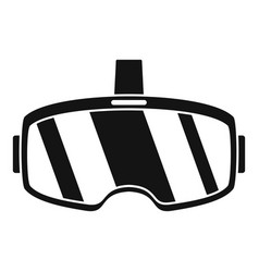 Virtual reality headset icon simple style vector