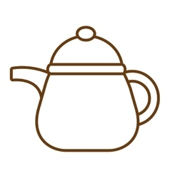 white kettle graphic vector image