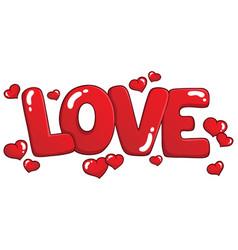 Word love theme image 1 vector