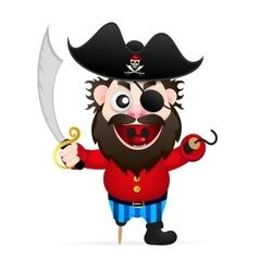 Cartoon funny pirate vector