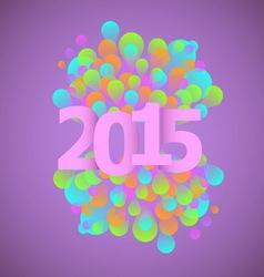 Celebration 2015 concept on violet background vector image vector image