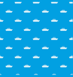 ship pattern seamless blue vector image