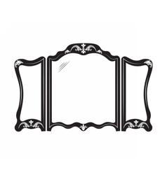 Vintage mirror frame vector image vector image