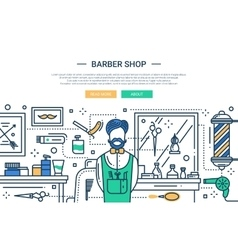 Baerber Shop In the City - website banner vector image vector image