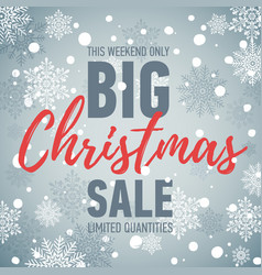 christmas sale banner big sale holiday discount vector image